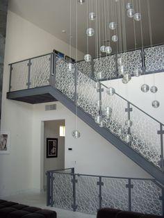3-Form Eco-Resin Stair Rail Panels by California Closets of Las Vegas , via Behance