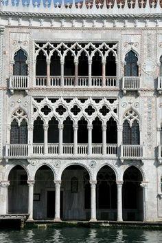 Arches of the Ca' d'Oro in Venice.