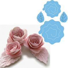 LR0162 - Marianne Design Creatables - Engelsk rose  Dies måler ca: