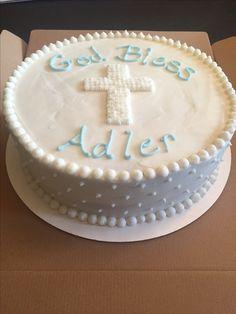 Boy baptism cake