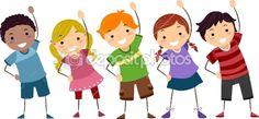 stick kids images + exercise | Kids Exercise | Stock Photo © Lorelyn Medina #9548754