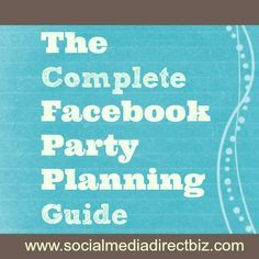 Plan a Successful Facebook Party