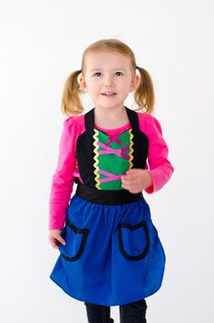 kids ANNA apron Anna dress up apron for by loverdoversclothing