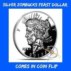 2018 Silver Feast Zombucks Bullion Z50 1 oz Zombie Series 6 Peace Dollar Zombuck | eBay
