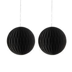 Paper Art Ornament 2pcs, Black, 180