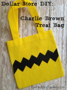 Make these easy, kid-friendly and adorable Charlie Brown treat bags.