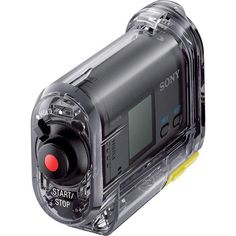 The Sony HDR-AS10 is a compact, rugged HD video action camcorder that offers Full HD 1080p recording with an ultra wide angle Carl Zeiss® Lens (170-degree FOV).  #sonycamcorders #sonyactioncam #sonyhdras10