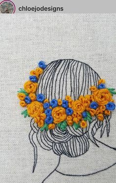 Embroidery stitches by hand tutorial Handembroiderystitches Shirt Embroidery, Silk Ribbon Embroidery, Modern Embroidery, Embroidery Hoop Art, Hand Embroidery Designs, Cross Stitch Embroidery, Embroidery Patterns, Bordado Floral, Sewing Art