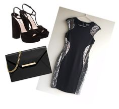 """Classic Black Midi Dress with a Little Sparkle"" by baileyblueclothing ❤ liked on Polyvore featuring moda, Miu Miu, MICHAEL Michael Kors y LBD"