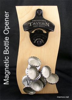 Magnetic Bottle Opener Personalized for Free! ** Awesome product. Click the image : Handmade Gifts