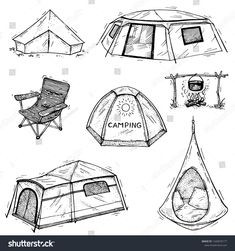 Find Vector Collection Hand Drawn Camping Tents stock images in HD and millions of other royalty-free stock photos, illustrations and vectors in the Shutterstock collection. Thousands of new, high-quality pictures added every day. Tent Drawing, Camping Drawing, Animation Reference, Tattoo Stencils, Art Poses, Tent Camping, Fabric Art, Hand Drawn, Art Drawings