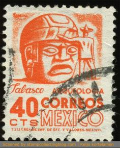 1950/52 Mexico - Fransico Eppens also did design many of the Mexican definitive stamps.  Though the motifs depict ancient history of Mexican culture, the designs are extremely powerful and modern.