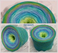 Caribbean Dream Hochbauschacryl 9 Farben: heller Apfel lindgrün aqua mittelblau eisblau oceangrün orchid apfelgrün helltürkis