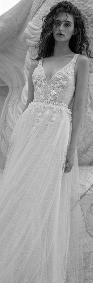 Wedding Dress by FLORA Bridal 2017 Collection v-neckline - flowers - romantic dress - sexy www.flora-bride.com