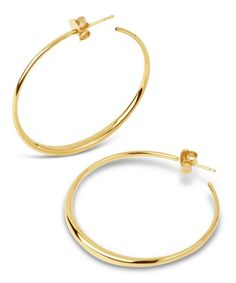 0598daf6b A new interpretation for an iconic design, these Dinny Hall Signature hoop  earrings were designed