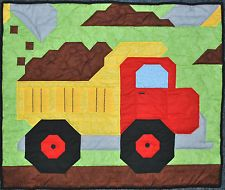 Dump Truck quilt pattern with multiple sizes