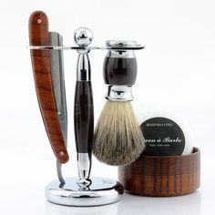 ZY Straight Razor Shave Ready+Stand+Badger Brush+Wood Bowl+Soap Wet Shaving Kit in Health & Beauty, Shaving & Hair Removal, Straight Razors | eBay