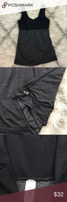 [Lululemon] Elevate tank EUC  Lululemon athletica  Elevate tank  We made this lightweight tank to help us stay cool when things get sweaty. With sweat-wicking fabrics and a Mesh body to maximize airflow, we layer this tank over our favourite bra and hit the ground running breathable Mesh body lets air move so that you can stay cool lightweight Light Luxtreme fabric bust is cool to the touch and helps wick sweat away from your skin the hem drawcord can be cinched to keep your tank from…