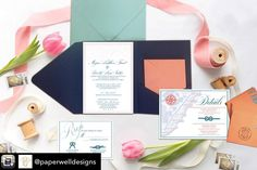 We are loving these nautical wedding invites from local vendor @Paperwelldesigns. Such a gorgeous color combo for a Jersey Shore wedding! #nauticalweddings #beachweddimgs #jerseyshoreweddings #oceancityweddings #capemayweddings