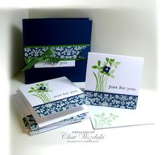 Made with Stampin' Up! products at Me, My Stamps and I: Just For You Note Cards and a Sneak Peek
