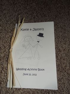 DIY Kid's Wedding Activity Book - Keeps Kids Entertained at the Wedding