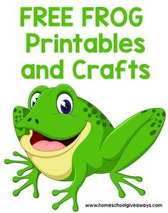 FREE Frog Printables and Crafts