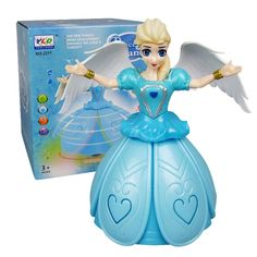 Disney Princess Flutter Spin Dancing Light Girls Doll Toy With Music /& Lights
