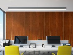 Flat Panel VMT Natural Wood Collection gives a fresh new look to an Office's wall. Acoustic Panels, Office Walls, Workspaces, Natural Wood, Fresh, Flat, Collection, Bass, Flat Shoes