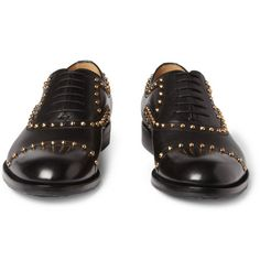 #studs #gucci #gold #oxford #black #shoes #man