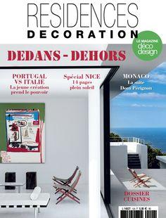 Le nouveau Résidences décoration est désormais disponible en kiosques et sur tablettes ! #design #decoration #magazine #presse #dedansdehors