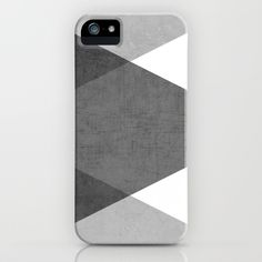 black and white triangles iPhone & iPod Case