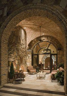 Escala Tuscan Villa is my favorite! (Jauregui Architects, Interiors & Construction: Portfolio of Luxury Custom Homes) Outdoor Rooms, Outdoor Living, Indoor Outdoor, Architecture Design, Architecture Interiors, Tuscan House, Tuscan Style Homes, Tuscan Decorating, Mediterranean Homes