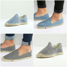 Soludos Smoking Slipper grey & blue