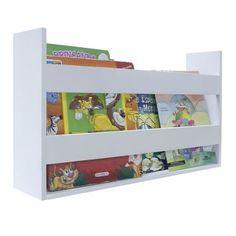 Porta Livros E Revistas de Parede 50x30x11 Branco