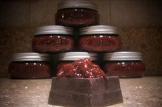 Chocolate Raspberry Jam (Canning Recipe) from Food.com:   MMMM...Chocolate and Raspberries.  What could be better as a preserve?  I found this recipe on the Web somewhere, I forget where exactly.  Probably at Recipes Downunder.  I'm going to make this as Christmas presents for this year, but haven't had time yet.  I hope it's as delicious as it sounds!