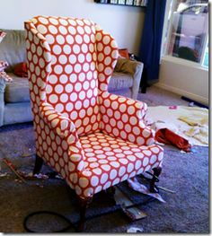Love the pattern on this chair.