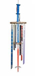 Recycled Ski Pole Wind Chime - Single Stack Winter Cabin, Winter Home Decor, Ski Decor, Vintage Ski, Cabin Interiors, Repurposed Items, Snow Skiing, Wind Chimes, Ski Racing