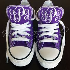 Customize your All-Star Converse sneakers with a gorgeous monogram! Each pair is personalized just for you by selecting your font style and thread color. These