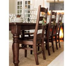 Pb Wynn Ladderback Chairs Pottery Real Character Neat Furniture Diningroom Ladders Barn Dining