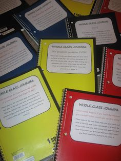 whole-class journal prompts (simply print and glue on a notebook)