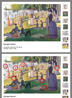 Georges Seurat, History Projects, Art History, Art Plastique, My Job, Oeuvre D'art, Activities For Kids, Preschool, Animation