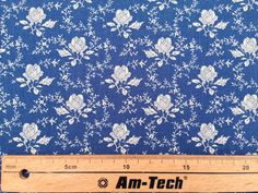 CP0120 Copen/Blue Rose & Hubble Fabric floral by TheFabricShopUK