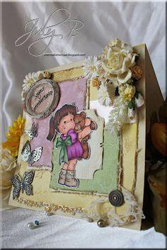 Une création unique    Teaddy bear love  Magnolia stamps  Melissa Frances