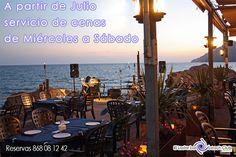 Atención amig@, te informamos que este viernes y sábado tendremos servicio de cenas y A PARTIR DE JULIO, SERVICIO DE CENAS DE MIÉRCOLES A SÁBADO, para reservar tu mesa para cenas contacta con nosotros en el 868081242