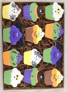 Halloween Cupcake Cookies - $30.00/dozen