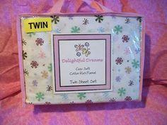 FREE SHIPPING! Delightful Dreams Snowflake Twin Sheet Set Cotton Rich NIP | eBay