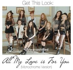 Get This Look: SNSD All My Love is For You (Monochrome Version) – THE YESSTYLIST - Asian Fashion Blog - brought to you by YesStyle.com