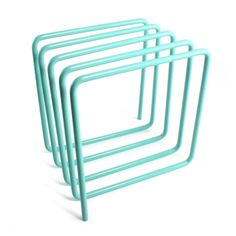 block magazine rack turquoise