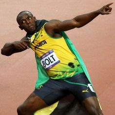 Usain Bolt The Golden Man of the Sprints.  Awesome runner and what a character at the 2012 Olympics