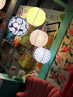 fabric lantern pattern by Rebecca merkle